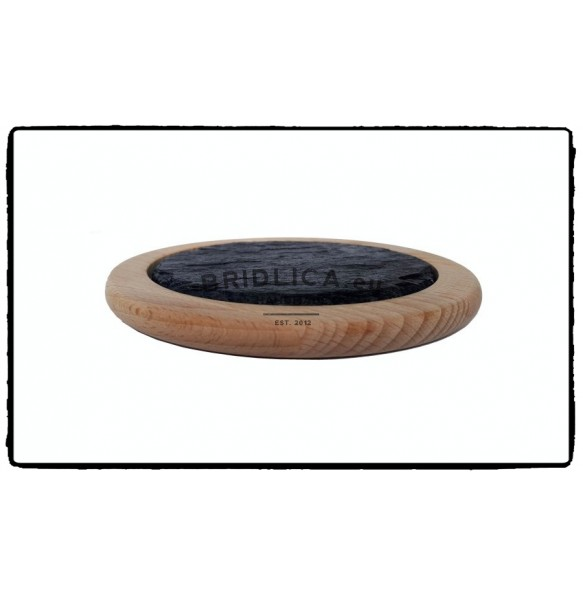 Beech Wood Saucer Eith Slate Plate 1 piece,  Ø 14 cm - NEW PRODUCTS