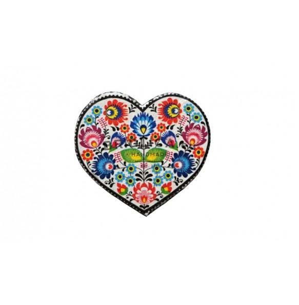 Podšálka z bridlice, zdobené srdiečko 1ks, 15x16 cm - NOVINKY