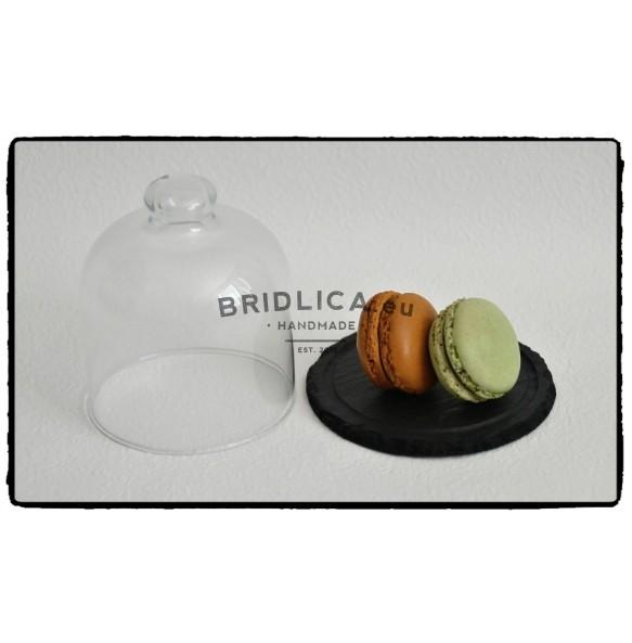 Servírovací deska z břidlice se skleněným poklopem Ø 10 cm typ B. - Různé
