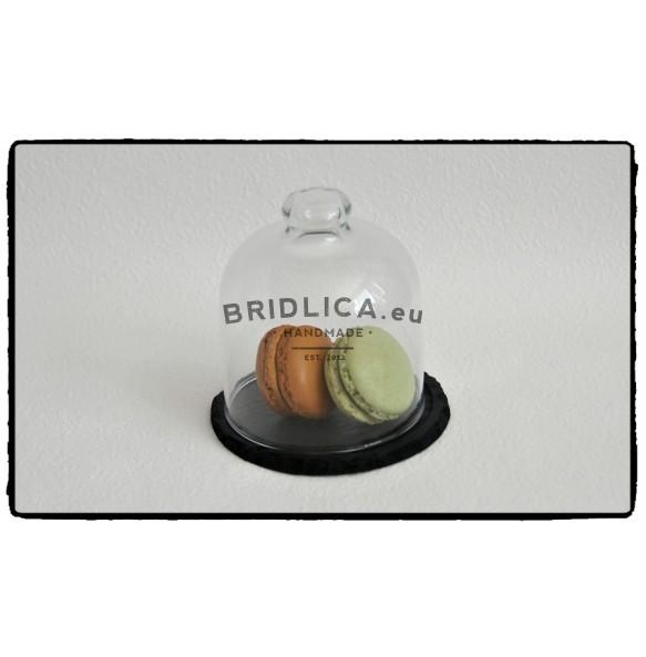 Servírovacia doska z bridlice so skleneným poklopom Ø 10 cm typ B. - Rôzne