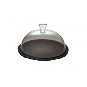 Slate Serving Plate With Glass Cover Ø 34 cm type D.