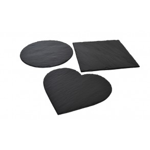 "Serving Set ""3 Slate Serving Plates"" 24x24 cm"