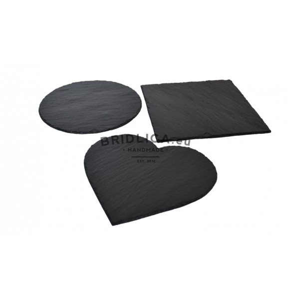 "Serving Set ""3 Slate Serving Plates"" 28x28 cm - NEW PRODUCTS"