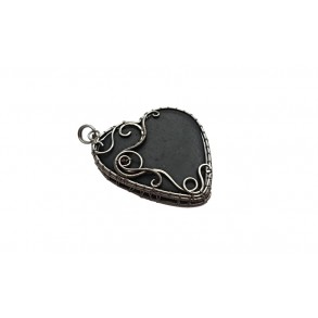 Slate pendant made by Wire wrapping