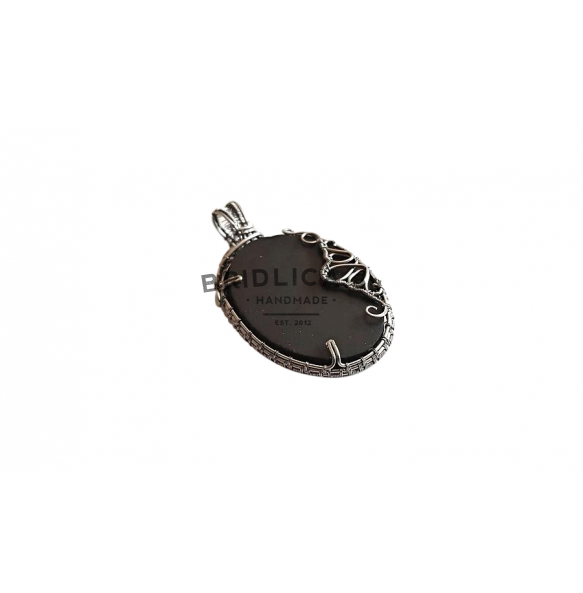 Slate pendant made by Wire wrapping - Jewels