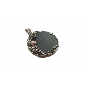 Slate pendant with beads