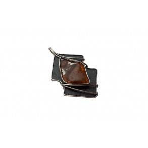 "Slate pendant with ""amber"" mineral"