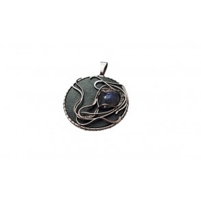 "Slate pendant with moonstone ""adulula"""