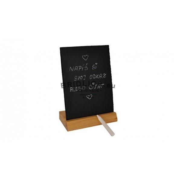 Univerzální stojan z břidlice a dřeva 20,5x15 cm - Stojany
