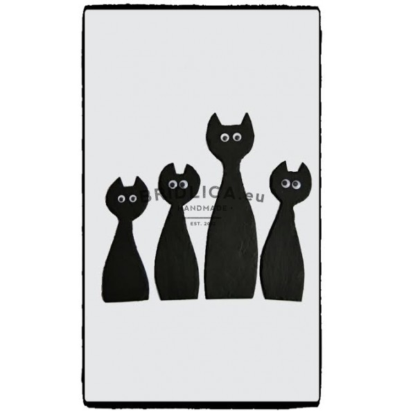 Slate Cat 26,5x7,5 cm type IV. - Animals