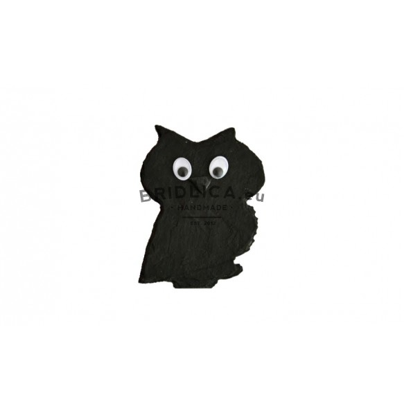 Sova z bridlice MINI 9,5x7 cm typ I. - Zvieratá